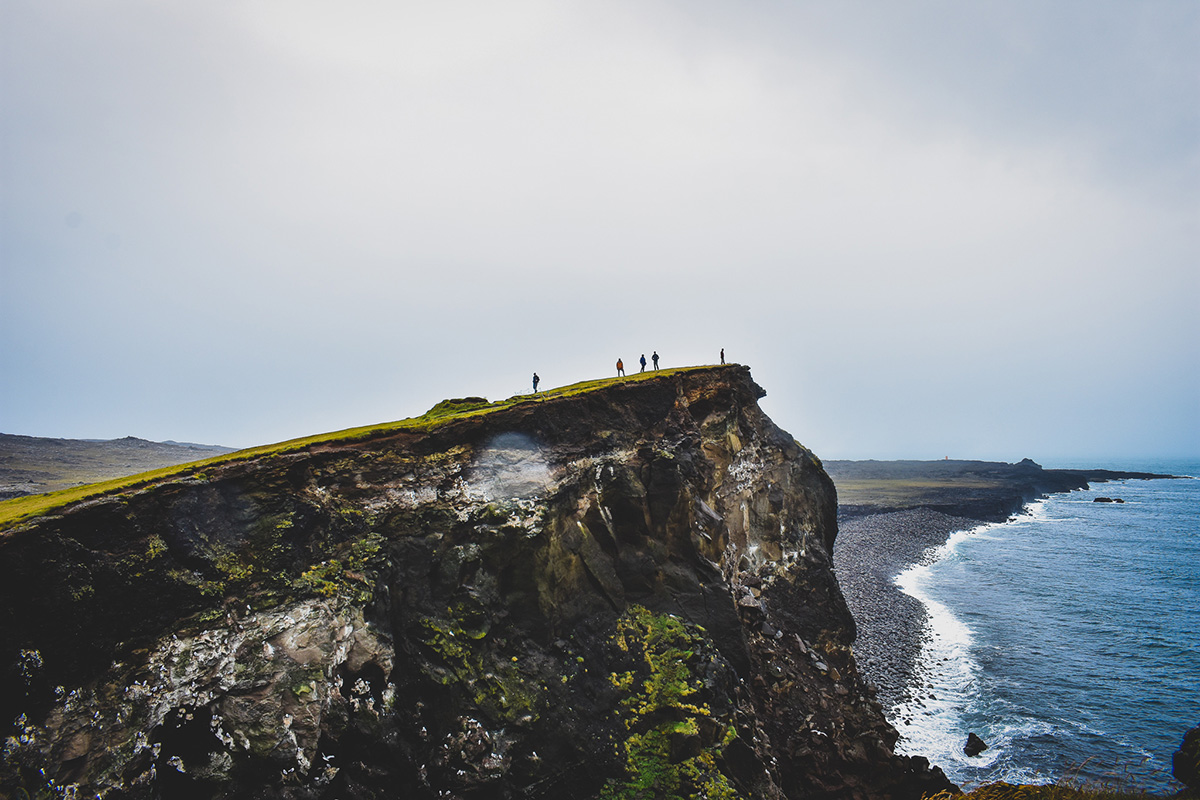 Cliff in Iceland